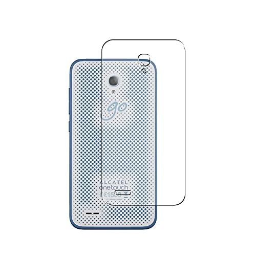 Vaxson 2-Pack TPU Pellicola Protettiva Posteriore, compatibile con ALCATEL one touch go play 7048x, Back Film Protector Skin Cover Copertina [ Non Vetro Temperato ]