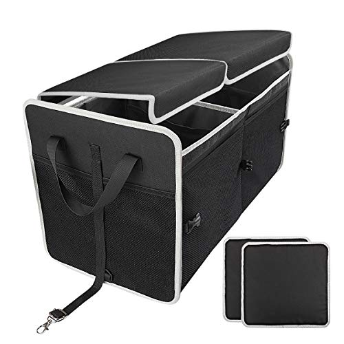 8 Pockets Car Trunk Organizers Car Backseat Organiser Durable Foldable Cargo Net Storage for All Vehicles Infreecs Car Boot Organiser Storage