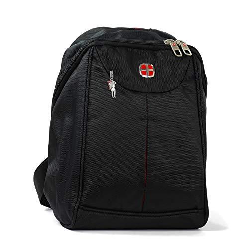 imppac New Bags Femmes Hommes sac de sport compartiment lecteur MP3 sac à dos noir polyester incl. Feeanhänger (26x12x31) OTD600S une offre de