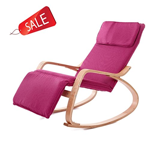 Confortable Relax Fauteuil à bascule Recliner Lounge Chair Fauteuil Relax Chair (Color : Pink)