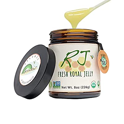 GREENBOW Organic Fresh Royal Jelly - 100% USDA Certified Organic, Pure, Gluten Free, Non-GMO Royal Jelly - One of The Most Nutrition Packed Diet Supplements - Highest Quality Royal Jelly - (226g)