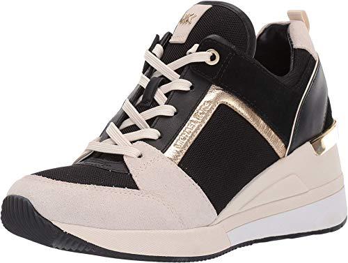MICHAEL Michael Kors Georgie Sneakers Dames Zwart/Beige/Goud - 41 - Lage Sneakers Shoes