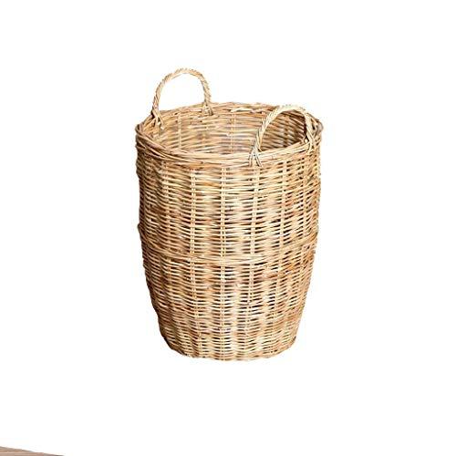 Paragüero de Mimbre Canasta de Almacenamiento de ratán Misceláneas Cubo Cubeta de Almacenamiento de Paraguas (Size : 43 * 56 * 48cm)