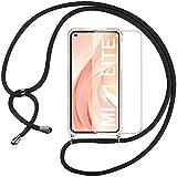 Pnakqil Collier Cordon Coque pour Xiaomi Mi 11 Lite 4G/5G 6.55' avec 1 x Protecteur d'écran en...