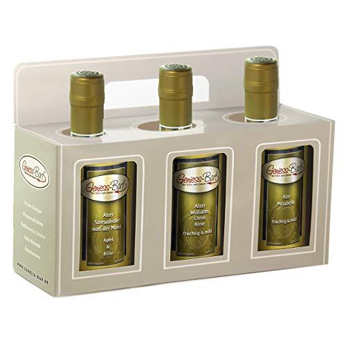 Geschenkbox 3 edle Obstbrände Streuobst Alter Williams Alte Mirabelle 0,5L Schnaps Obstler 40%