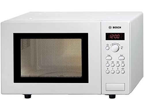 Bosch HMT75M421B Serie 2 Freestanding 800W Microwave Oven, 17 litre, White