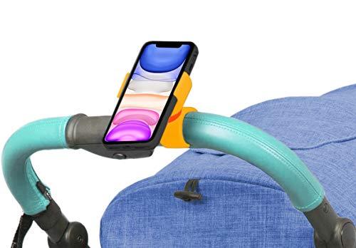 Antber universele houder voor kinderwagens en baby's, geschikt voor smartphones tot 17,8 cm (7 inch) en elke kinderwagen, beige