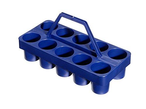 bevando Gläserträger blau aus Kunststoff, 10 Gläser konisch 0,2-0,4ltr, Flaschen 0,33ltr.