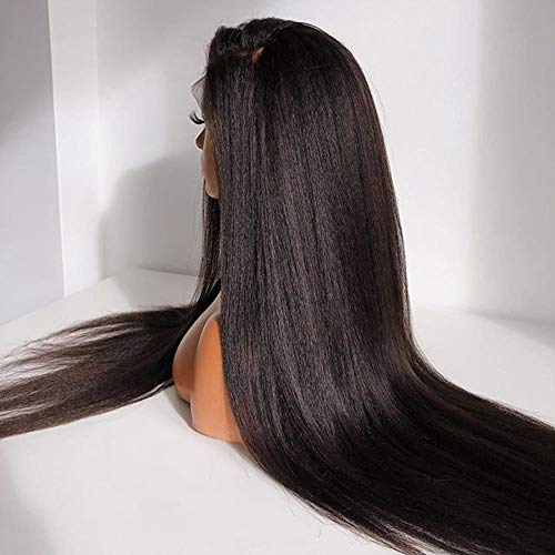 Pelucas Synthetic Wigs For Black Women Long Black Color Light Hair Extension For Daily Use Cheap Wig Synthetic Lace Front Wigs,18Inches