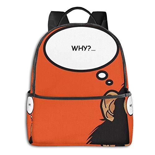 FONDSILVER The Gorilla Question Why High School Rucksack Schultasche Student Book Bag Laptop Aypack für Jungen Mädchen Teenager