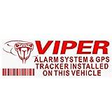 Platinum Place 5 x VIPER alarma y dispositivo de seguimiento GPS de seguridad rojo sobre pegatinas transparentes 87 x 30 mm - coche y furgoneta señales de advertencia