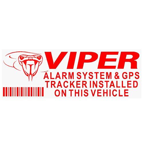 5x Viper alarma y GPS Dispositivo de seguimiento de seguridad rojo/claro Pegatinas 87x 30mm-car, Van rastreador de advertencia Signs