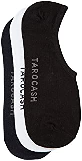 Tarocash Men's Payton 3 Pk Invisible Sock Assorted 1 for Going Out Smart Occasionwear Formal