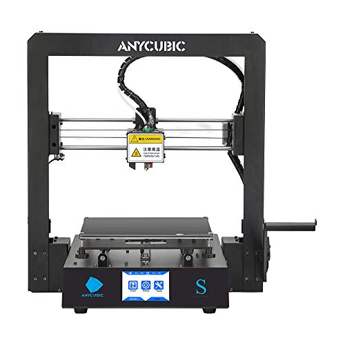 ANYCUBIC Mega S, FDM 3D Printer with UltraBase Heated Build Plate and Upgrade Extruder + Free Test PLA Filament, Works with TPU/PLA/ABS and 8.27''(L) x8.27''(W) x8.07''(H) Print Size UK Plug