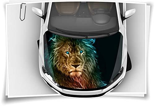 Medianlux Löwe King Abstract Animal Motorhaube Auto-Aufkleber Steinschlag-Schutz-Folie Airbrush Tuning Car-Wrapping Luftkanalfolie Digitaldruck Folierung