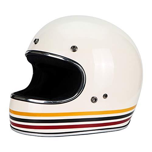 Carcasa de FRP Vintage Harley Casco Moto Integral, Ultra Ligero Alta D