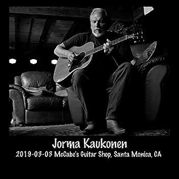2019-03-03 Mccabe's Guitar Shop, Santa Monica, CA (Live)