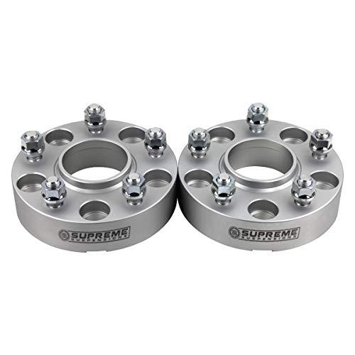 Supreme Suspensions - 2pc 2' Hub Centric Wheel Spacers for 2012-2018 Dodge Ram 1500 2WD 4WD 5x5.5' (5x139.7mm) BP with M14x1.5 Studs 77.8mm Center Bore w/Lip [Silver]