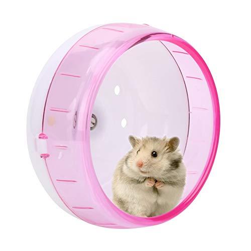 Hamsterlaufrad Hamsterrolle Ø 11.5 Leise Laufrad Kunststoff für Hamster Rennmaus und Ratte (Pink)