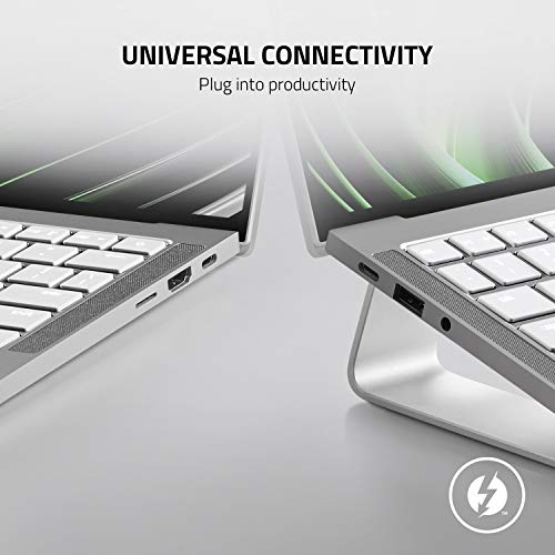 Razer Book 13 - Ultra leichter Laptop für unterwegs mit 13,4 Zoll Full HD 60 Hz-Touchscreen (Intel Core i7 11th Gen, Iris Xe Grafik, 10 Stunden Akkulaufzeit) Mercury / Weiß | Qwertz DE-Layout