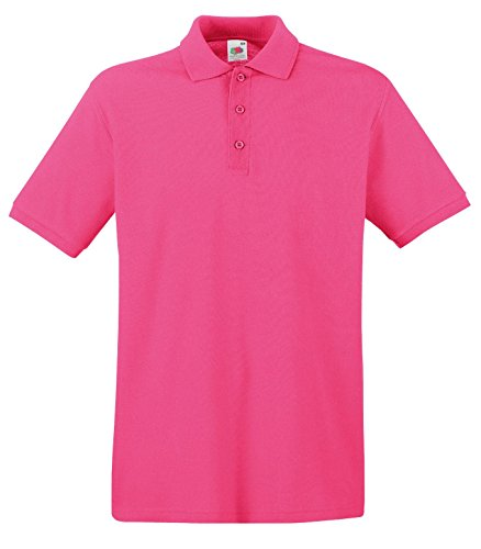 Fruit of the Loom - Polo - Homme Rose Fuchsia