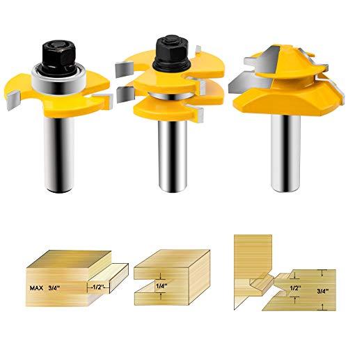 HandsEase Nut- und Federfräser, 1/2-Zoll-Schaft + 45-Grad-Verriegelung, für Türen, Tische, Regale, Wände, DIY-Projekte