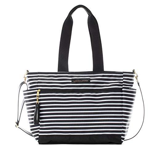 Logan + Lenora Commuter - Work Bag Purse for Women, Laptop Tote Bag with Crossbody Black Size: Mini Commuter