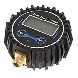 MagiDeal Inflador de Neumáticos Digital con Manómetro, Portabrocas de Aire de 200 PSI Y Accesorios de Compresor con Pantalla Retroiluminada Por LED, Color Negr