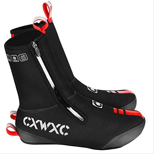 WDXWA Cubrezapatillas De Ciclismo Cubrezapatillas Impermeables De Invierno para Hombres Y Mujeres Botas Térmicas Cálidas para Bicicleta De Carretera MTB