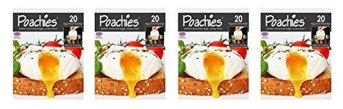 POACHIES Poachiers Beutel für pochierte Eier, 17 x 13,5 x 2 cm, 4 x 20Stück
