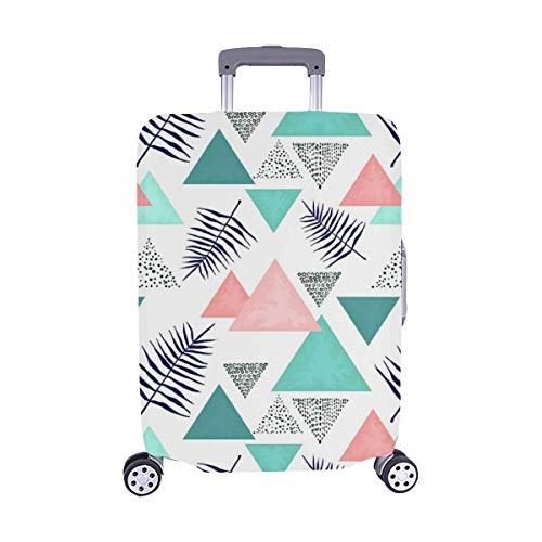 Promini Tropical Hawaiian Beach Travel Luggage Cover Suitcase Protector Washable Baggage Covers Spandex Elastic Dustproof 18-32 Inch