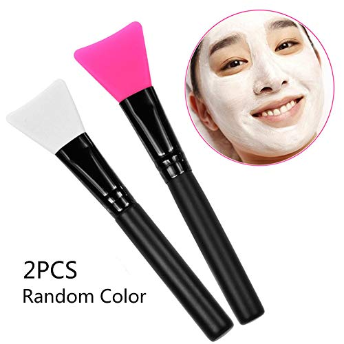 Xiton 2pcs Masque Applicateur Brosse Masque de silicone Brosse de visage masque facial Outils applicateurs Pinceaux de maquillage souple masque de silicone brosses applicateur