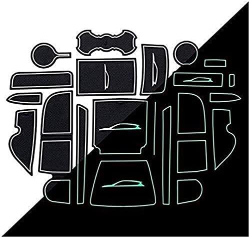 XFGGNB Coche Antideslizante Copa Mats, Interior del Coche Almacenamiento Alfombrillas de Decoración Consola Central Kits de Revestimiento para For-d Kuga MK2 2016-2019