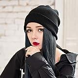 Cookin, parrucca lunga dritta con cappuccio e parrucca invernale da donna casual con capelli per donne ragazze uso quotidiano cosplay party