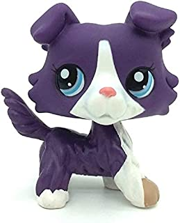 LPS Toy Sparkle Action Figures Kids Toy Gift,Cute Cartoon Pets Collie Dog Puppy Toy Mini Pet Shop Toys