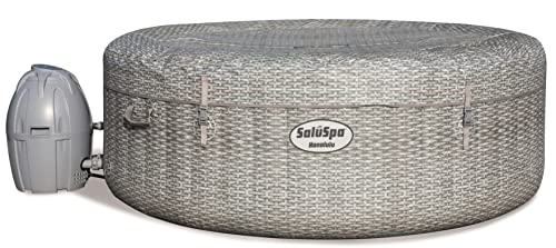 Bestway 54295 SaluSpa AirJet 6 Person Honolulu Inflatable Outdoor Portable Hot Tub Spa with Cover,...