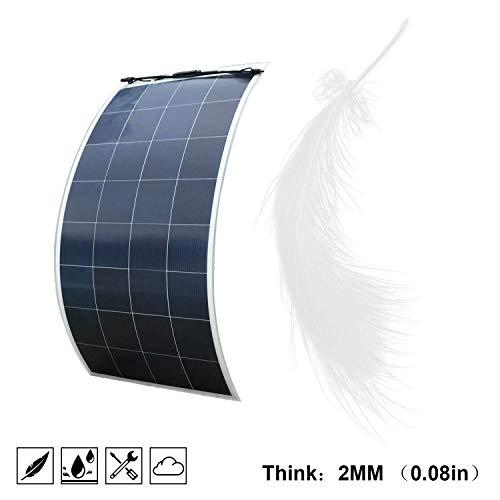ECO-WORTHY 150 W 18 V 12 V flexibel, draagbaar, ultra-licht en ultradun, poly-zonnepaneel voor niet-gewelfde oppervlakken in boot, caravan, camper, auto, tent of andere onregelmatige oppervlakken