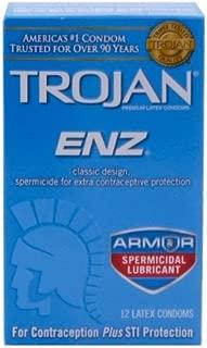 Trojan ENZ Spermicidal Lubricated: 12-Pack of Condoms
