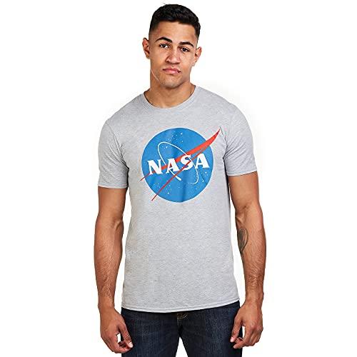 Nasa Herren Circle Logo T-Shirt, Grau (Sports Grey SPO), Medium