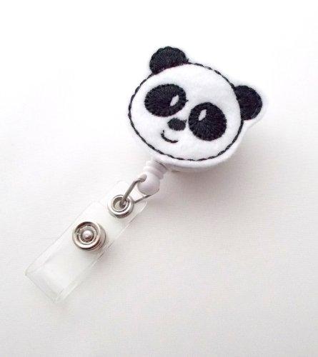 Panda Bear - Retractable ID Badge Reel - Name Badge Holder - Pediatric Badge Reel - Nurse Badge Holder - Nursing Badge - Felt Badge Photo #3