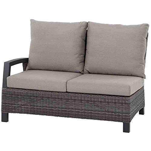 Siena Garden Corido 2-Sitzer mit Armlehne rechts, grau