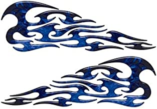 Weston Ink Tribal Style Flame Graphics in Inferno Blue
