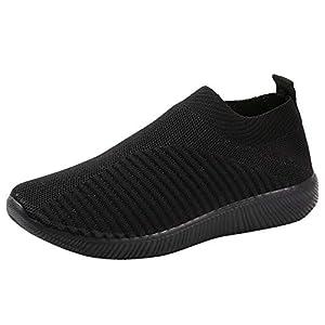 BaZhaHei Scarpe Donna Sneakers Eleganti,Ragazze Casual Traspirante Soft Scarpe da Corsa Camminata Calcetto Scarpette…