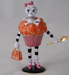 Department 56 Bejeweled Collection Glitterville Skeleton Jeweled Box