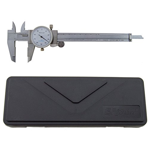 "Utility Dial Caliper - 6 Inch with 0.001"" Precision, Stainless Steel, Shockproof by Science Purchase"