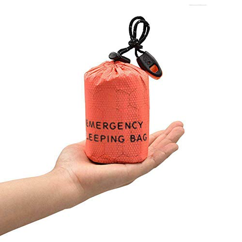 SZGXQML Saco de dormir de emergencia, impermeable, ligero, bolsa de supervivencia, bolsa de transporte, ideal para camping, senderismo, al aire libre.