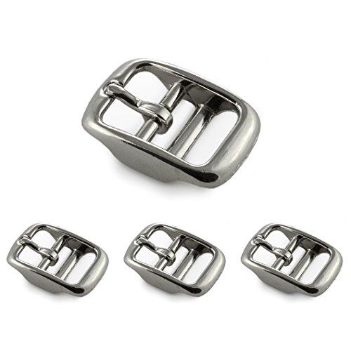 Ganzoo Gesp van roestvrij staal, 3 stuks in set, riemgespen voor dames en heren, Paracord 550 gesp in zilver, max. Breedte riem 16 mm, gesp, riem, merk