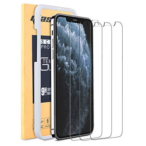 Smiling Screen Protector for Apple iPhone 12 /iphone 12 pro [6.1 inch], [3 Pack] Tempered Glass Screen Protector for iPhone 12/iPhone 12 Pro 2020[Anti-Scratch][Bubble Free][Case-friendly]