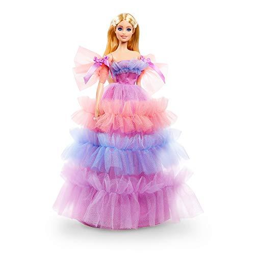 Barbie Deseos de cumpleaños Muñeca para niñas y niños +3 años (Mattel GTJ85)