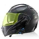 Casco De Motocicleta Integrado Con Bluetooth, Certificado Por DOT/ECE, Doble Lente, Casco Abatible Para Motocicleta, Casco Integral Para Motocicleta Con Radio FM De 500 M / MP3,A,XXL
